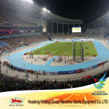 IAAF Certificado Ecológico prefabricado de goma Pista corriente