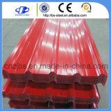 Prepainted電流を通された台形のシート・メタルの屋根ふき版