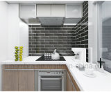 Diseño moderno caliente de la pared interior borde biselado mosaico de azulejos de cocina y baño100x300mm