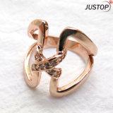 Nam de Gouden Ringen van de Juwelen van de Vinger van de Manier met de Steen van CZ toe