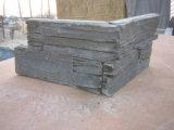 /Rose/Vert naturel noir/Rusty coin de la pile de placages en ardoise de la Culture de la pierre pour revêtement mural