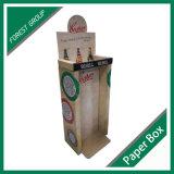 Caixa ondulada feita sob encomenda da cremalheira de indicador para a cerveja