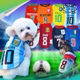 La tazza di mondo Pets i vestiti respirabili del cane della squadra nazionale di gioco del calcio/pallacanestro di calcio