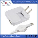 5V 3A USB-Wechselstrom-Wand-Aufladeeinheit mit einziehbarem Blitz-Kabel für Apple-Einheiten