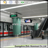 Azulejos de aluminio del techo para la decoración del techo del metro