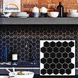 Het beste In het groot Patroon van het Mozaïek van het Mozaïek Backsplash Zwarte Hexagon