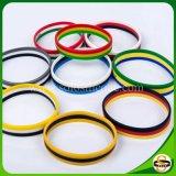 Form-buntes Regenbogen-Silikon-Armband