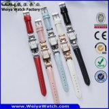 Reloj de acero de la manera de las señoras del cuarzo de la venta caliente del ODM (Wy-020D)