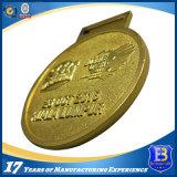Medaglia del metallo di sport di esecuzione di maratona di sfida del ricordo con sabbiatura