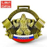 Barata la Fundición de aleación de zinc viejo 3D Deporte Medalla artesanales personalizados de diseño