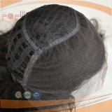 Parrucca nera aperta anteriore di colore di Wefted del merletto (PPG-l-0696)