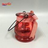 Vela de la jarra de cristal con tapa de iluminación