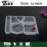 Contenitore di alimento a gettare dello scompartimento della plastica 6 con il coperchio chiuso ermeticamente (M628)