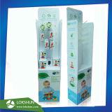 Les jouets pour bébés OEM Présentoir de sol en carton avec crochets Professional Pop/POS usine d'affichage de la Chine en carton