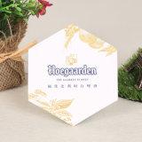 Cerveja impressas em papel de formato hexagonal Coasters Bar Cup Coaster (YH-DC025)
