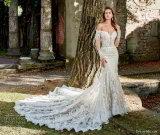 Vestidos nupciais das luvas longas 2018 vestidos de casamento feitos sob encomenda Z3004 da sereia do laço novo