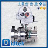 Valvola a sfera del perno di articolazione dell'acciaio inossidabile di Didtek con l'operatore del motore