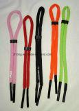 Type classique de sport de lunettes de soleil de relevé en verre de chaîne de caractères matérielle en nylon de cordon