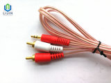 3.5mm Stereo-installatie aan Kabel 2male RCA met Spiraal