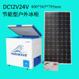 Степень замораживателя -25 комода DC 12V/24V/48V Purswave Vdfr-150e 150L солнечный с электронной батареей контроля температуры - приведенным в действие замораживателем мороженого холодильника подвижным
