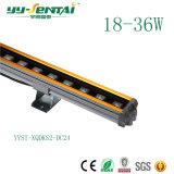 IP66 Waterproof a luz da arruela da parede do diodo emissor de luz 24W para a iluminação do edifício