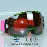 Masque de nez disponible Double lentilles sphériques Lunettes de vision large de snowboard