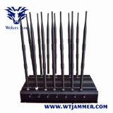 調節可能な14アンテナ強力な3G 4G WiFi UHF VHF GPS Lojackのリモート・コントロール電話シグナルの妨害機
