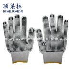 7g 계기 표백제 PVC 점을%s 가진 면에 의하여 뜨개질을 하는 안전 장갑