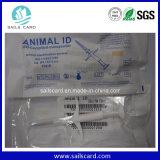 Étiquette en verre de puce d'animal familier d'IDENTIFICATION RF