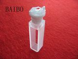 Cubeta de vidrio de cuarzo estándar con tapa