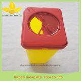 Wegwerfkrankenhaus-medizinisches quadratisches Plastikscharfes