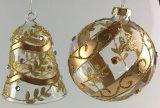 De Bal van het Glas van Kerstmis met Gouden Kleur (lcp-a-0003)