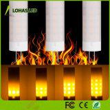 Bulbo de la antigüedad LED de la vendimia de las bombillas del efecto de fuego de los bulbos 2W G4 LED de la llama del LED para la Navidad