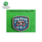 Het Embleem van de Stickers van het Silicone van de douane, 3D Leverancier van het Etiket van de Kleding van het Silicone
