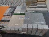 Cinzento natural/preto/jardim do granito/cubo do godo/bandeira/lancil/forma vermelha/amarela das cortinas/ventilador/pedras de pavimentação para ajardinar