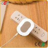 Socket de pared eléctrico del USB 2017 con el socket modelo de la luz de la noche del acceso dos del USB