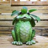 Новое творческое художническое украшение сада цветочных горшков лягушки личности