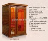Sitio justo de la sauna del infrarrojo lejano de la persona del expositor 2 del cantón