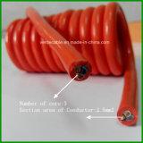 3core 5 câble spiralé enroulé du faisceau 0.75mm2 Pur