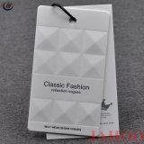 Diseño de Moda China Etiqueta personalizada colgar la impresión de etiquetas para prendas de vestir