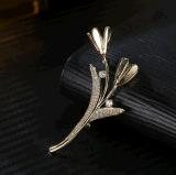 De echte Juwelen van de Broche van de Vrouwen van /Yellow van het Ontwerp van de Bloem van de Juwelen van de Manier Witte Goud Geplateerde