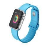 最も新しいスポーツのAppleの腕時計のための柔らかいシリコーンゴムの時計バンド