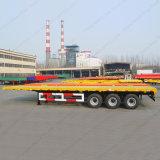 40FT 2conteneur de transport de l'essieu à plat squelette semi remorque/semi-remorque