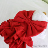 Royal robe rouge Pet de noël vacances Bow Tie chien Jupes Vêtements