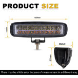 새로운 도매 이중 색깔 최고 밝은 노란 공정한 판단은 트럭을%s 인치 30W 포크리프트 Osram 6.3 빛 LED 일 빛을 방수 처리한다