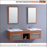 La salle de bains commerciale fixée au mur en bois solide coule des vanité
