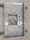 De geprefabriceerde Witte G655 Countertop van het Graniet Tong'an & Bovenkant van de Ijdelheid