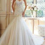 Cordon en dentelle Sexy bustier robe de mariée applique l'Empire Mermaid Yao98