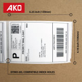 "Dymo kompatible 1744907 - 4 Porto-Verschiffen-Kennsätze "" x-6 "" Dymo 4XL (1 Rolle - 220 Kennsätze pro Rolle)"
