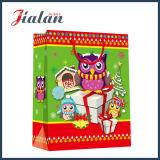 Bolsa de papel superficial brillante del diseño del día de fiesta del acabamiento del pequeño perro encantador